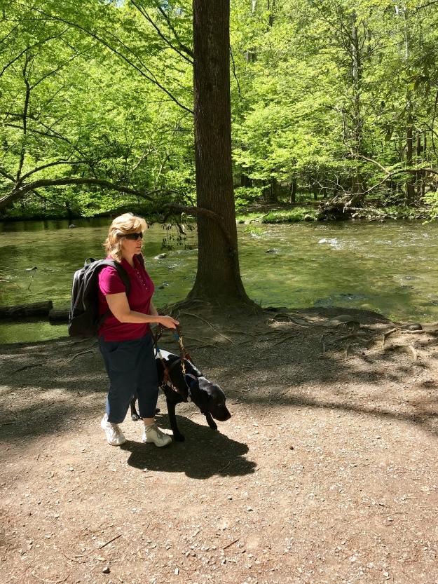 Iva walking at creek